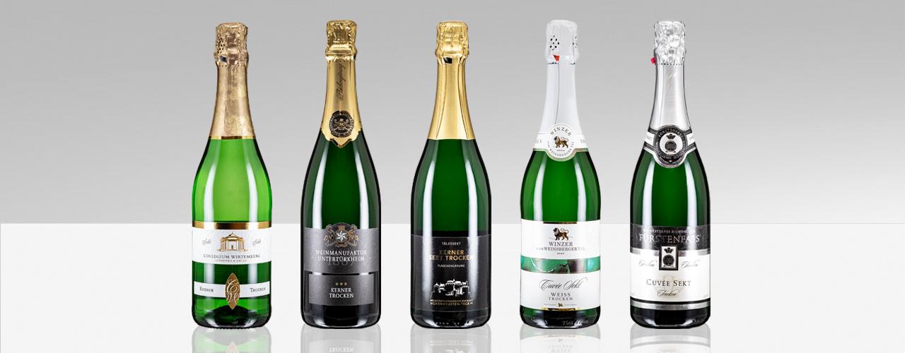 Weinheimat Verkostung: Sekt trocken Flaschen