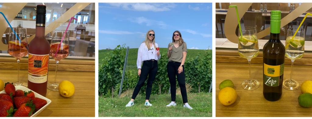 Sommer Cocktails Gläser und Schöpferinnen des Azubi Projekts