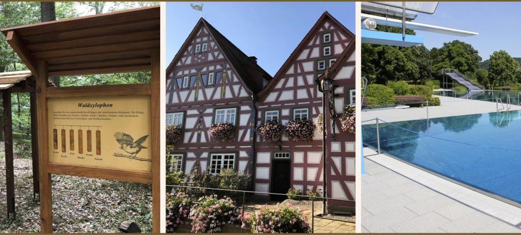 Dieblesberg Ausflugsziel im Heilbronner Land: Mitmach Station, alte Häuser und Mineralfreibad